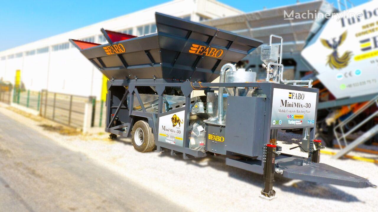 új FABO MINIMIX-30 MOBILE CONCRETE PLANT 30 M3/H READY IN STOCK  betonüzem