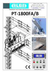 új PT ALBA 1800FA/B függesztett híd